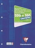 CLAIREFONTAINE - Bloc de cours feuilles mobiles perforées grands carreaux séyès - A4 21x29,7 cm - 200 feuilles + 100 gratuites