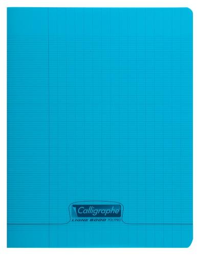 CLAIREFONTAINE - Cahier Calligraphe bleu grands carreaux séyès 17x22cm 96 pages