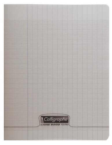 CLAIREFONTAINE - Cahier Calligraphe gris grands carreaux séyès 17x22cm 96 pages