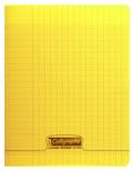 CLAIREFONTAINE - Cahier Calligraphe jaune grands carreaux séyès 17x22cm 96 pages