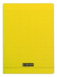 CLAIREFONTAINE - Cahier Calligraphe jaune grands carreaux séyès 21x29,7cm 96 pages