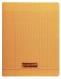 CLAIREFONTAINE - Cahier Calligraphe orange grands carreaux séyès 17x22cm 96 pages