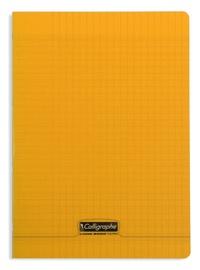 CLAIREFONTAINE - Cahier Calligraphe orange grands carreaux séyès 21x29,7cm 96 pages