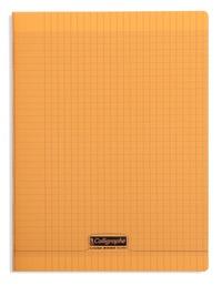 CLAIREFONTAINE - Cahier Calligraphe orange grands carreaux séyès 24x32cm 96 pages