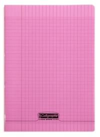 CLAIREFONTAINE - Cahier Calligraphe rose grands carreaux séyès 21x29,7cm 96 pages