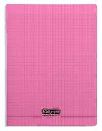 CLAIREFONTAINE - Cahier Calligraphe rose grands carreaux séyès 24x32cm 96 pages