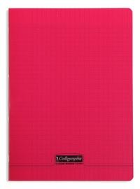 CLAIREFONTAINE - Cahier Calligraphe rouge grands carreaux séyès 21x29,7cm 96 pages