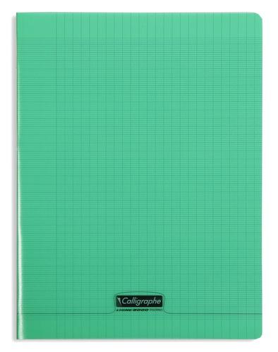 CLAIREFONTAINE - Cahier Calligraphe vert grands carreaux séyès 24x32cm 96 pages