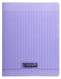 CLAIREFONTAINE - Cahier Calligraphe violet grands carreaux séyès 17x22cm 96 pages