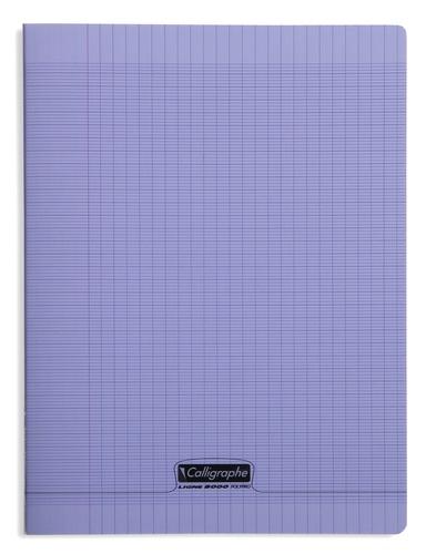 CLAIREFONTAINE - Cahier Calligraphe violet grands carreaux séyès 24x32cm 96 pages