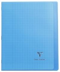 CLAIREFONTAINE - Cahier Koverbook bleu grands carreaux séyès - 17x22cm - 96 pages