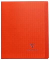 CLAIREFONTAINE - Cahier Koverbook rouge grands carreaux séyès - 17x22cm - 96 pages