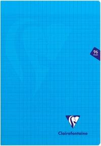 CLAIREFONTAINE - Cahier Mimesys bleu grands carreaux séyès - 21x29,7cm - 96 pages