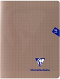 CLAIREFONTAINE - Cahier Mimesys gris grands carreaux - 17x22 cm - 96 pages