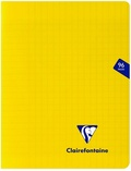 CLAIREFONTAINE - Cahier Mimesys jaune grands carreaux - 17x22 cm - 96 pages