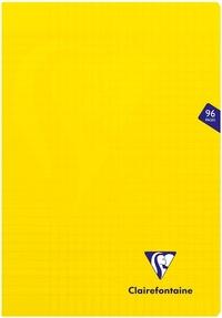 CLAIREFONTAINE - Cahier Mimesys jaune grands carreaux séyès - 21x29,7 cm - 96 pages
