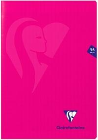 CLAIREFONTAINE - Cahier Mimesys rose grands carreaux séyès - 21x29,7 cm - 96 pages