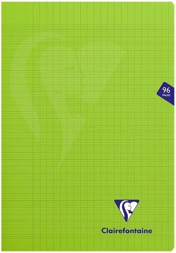 CLAIREFONTAINE - Cahier Mimesys vert grands carreaux séyès - 21x29,7 cm - 96 pages