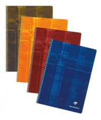 CLAIREFONTAINE - Cahier petits carreaux spirale - 24x32cm - 100 pages