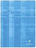 CLAIREFONTAINE - Cahier piqué Metric 24x32 cm 48 pages quadrillées 5x5 - Coloris assortis