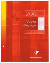 CLAIREFONTAINE - Copies doubles perforées grands carreaux séyès - 17x22cm - 200 pages