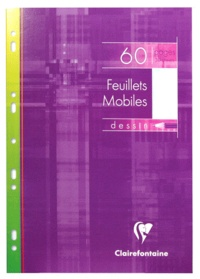 CLAIREFONTAINE - Feuilles mobiles perforées Dessin - 60 pages - 21x29,7cm