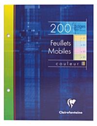 CLAIREFONTAINE - Feuilles mobiles perforées grands carreaux séyès - 17x22cm - 200 pages couleur