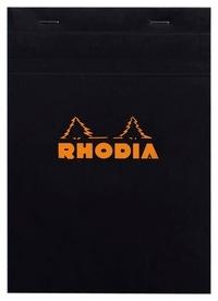CLAIREFONTAINE - Rhodia - bloc A5 noir - 160 pages petits carreaux détachables