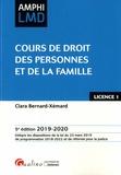 Clara Bernard-Xémard - Cours de droit des personnes et de la famille.