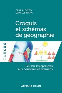 Clara Loïzzo et Camille Tiano - Croquis et schémas de géographie - Réussir les épreuves aux concours et examens.