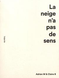 Clarisse Bardiot et Laurent Derobert - La neige n'a pas de sens - Adrien M & Claire B.