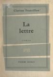 Clarisse Francillon - La lettre.
