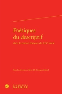 Birrascarampola.it Poétiques du descriptif dans le roman français du XIXe siècle Image