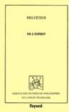 Claude-Adrien Helvétius - De l'esprit.