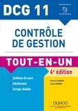 Claude Alazard et Sabine Sépari - DCG 11 - Contrôle de gestion - 4e éd. - Tout-en-Un.