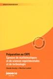 Claude Ancely et Martine Loubet - Préparation au CRPE - Epreuve de mathématiques et de sciences expérimentales et de technologie.