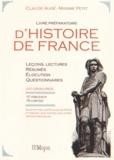 Claude Augé et Maxime Petit - Livre préparatoire d'Histoire de France.