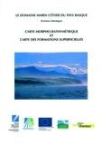 Claude Augris - Domaine marin côtier du pays basque - Carte morpho-bathymetrique et carte des formations superficielles.
