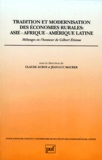 Claude Auroi et Jean-Luc Maurer - TRADITION ET MODERNISATION DES ECONOMIES  RURALES : ASIE, AFRIQUE, AMERIQUE LATINE. - Mélanges en l'honneur de Gilbert Etienne.