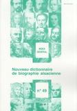 Claude Betzinger - Nouveau dictionnaire de biographie alsacienne n° 49 - Index général.