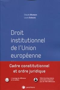 Droit institutionnel de l'Union européenne - Claude Blumann pdf epub