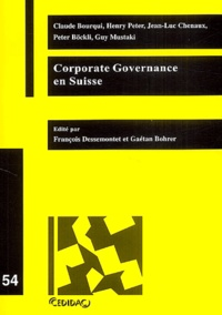 Claude Bourqui - Corporate governance en Suisse.