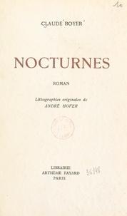 Claude Boyer et André Hofer - Nocturnes - Lithographies originales d'André Hofer.