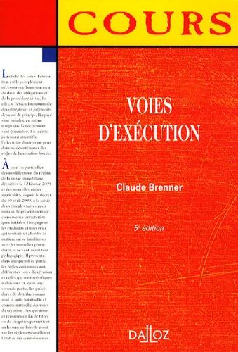 Claude Brenner - Voies d'exécution.