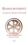 """Claude Dagens et Michel Fédou - Ressourcement - Les Pères de l'Eglise et Vatican II - La collection """"Sources chrétiennes"""" fête ses 70 ans."""