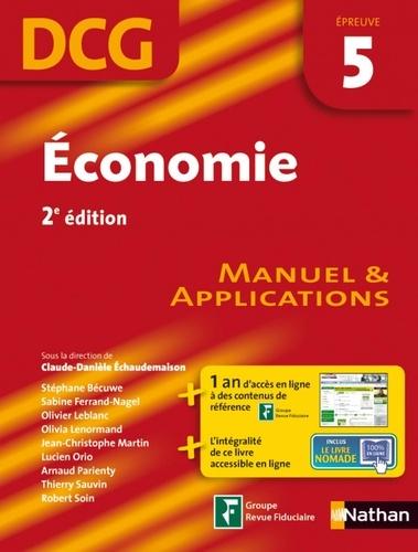 Economie DCG épreuve 5. Manuel et applications 2e édition