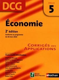 Claude-Danièle Echaudemaison - Economie DCG épreuve 5 - Corrigés des applications.