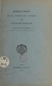 Claude de Bonnault - Répercussions de la perte du Canada sur l'économie française.