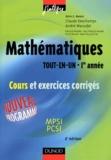 Claude Deschamps et André Warusfel - Mathématiques tout-en-un 1ère année MPSI-PCSI - Cours et exercices corrigés.