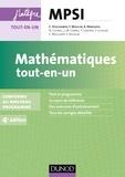 Claude Deschamps et François Moulin - Mathématiques tout-en-un MPSI - 4e éd. - conforme au nouveau programme.